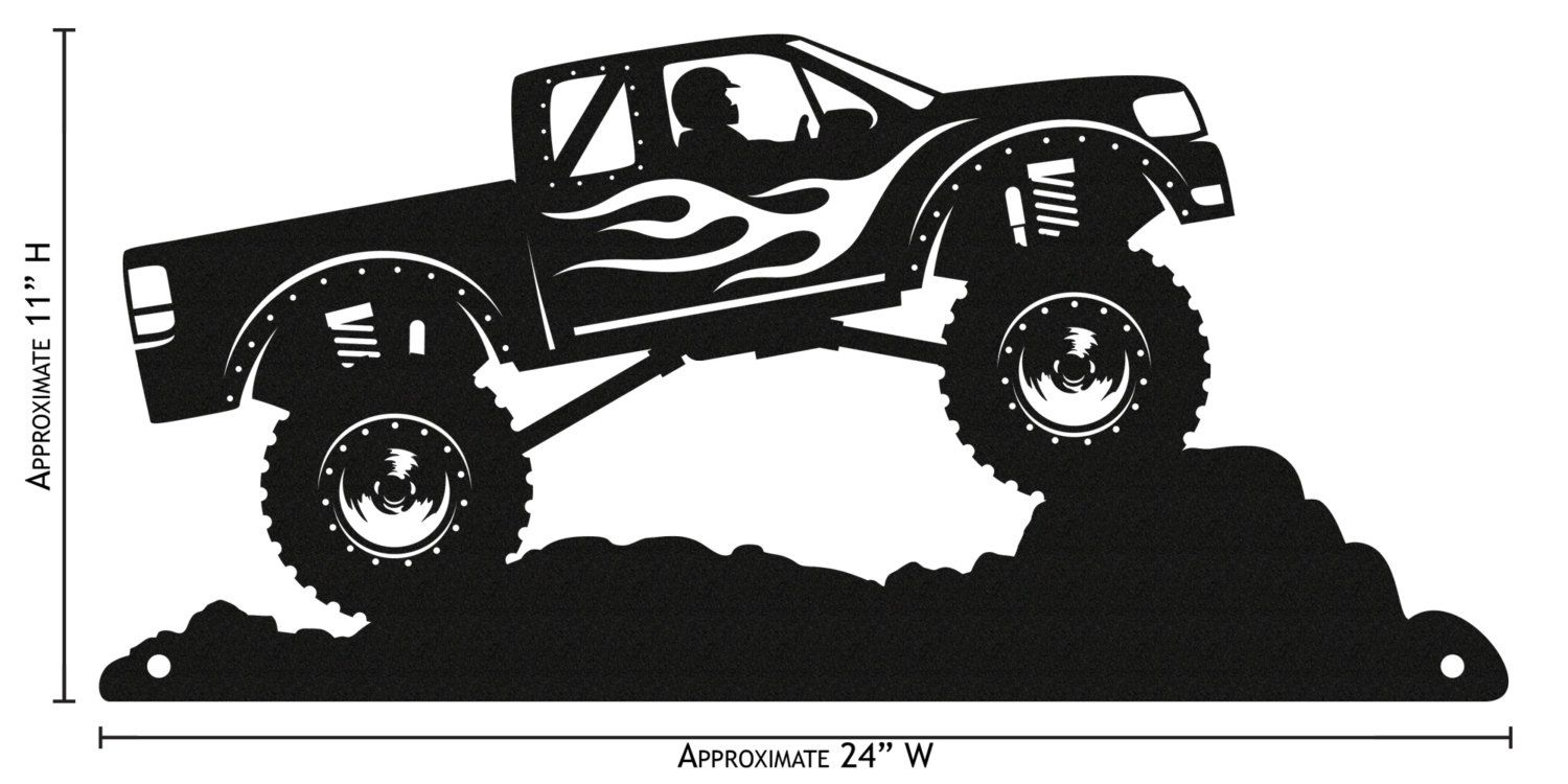 Monster Truck Silhouette Google Search Silhouette