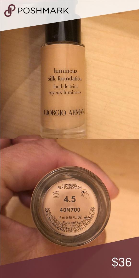 Giorgio Armani Luminous Silk Foundation This Is The Mini Size 10 More Fl Oz So Not Giorgio Armani Luminous Silk Luminous Silk Foundation Giorgio Armani Makeup