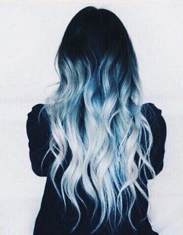 Pretty Blue Hair Blue Ombre Hair Hair Color Blue Light Blue Hair