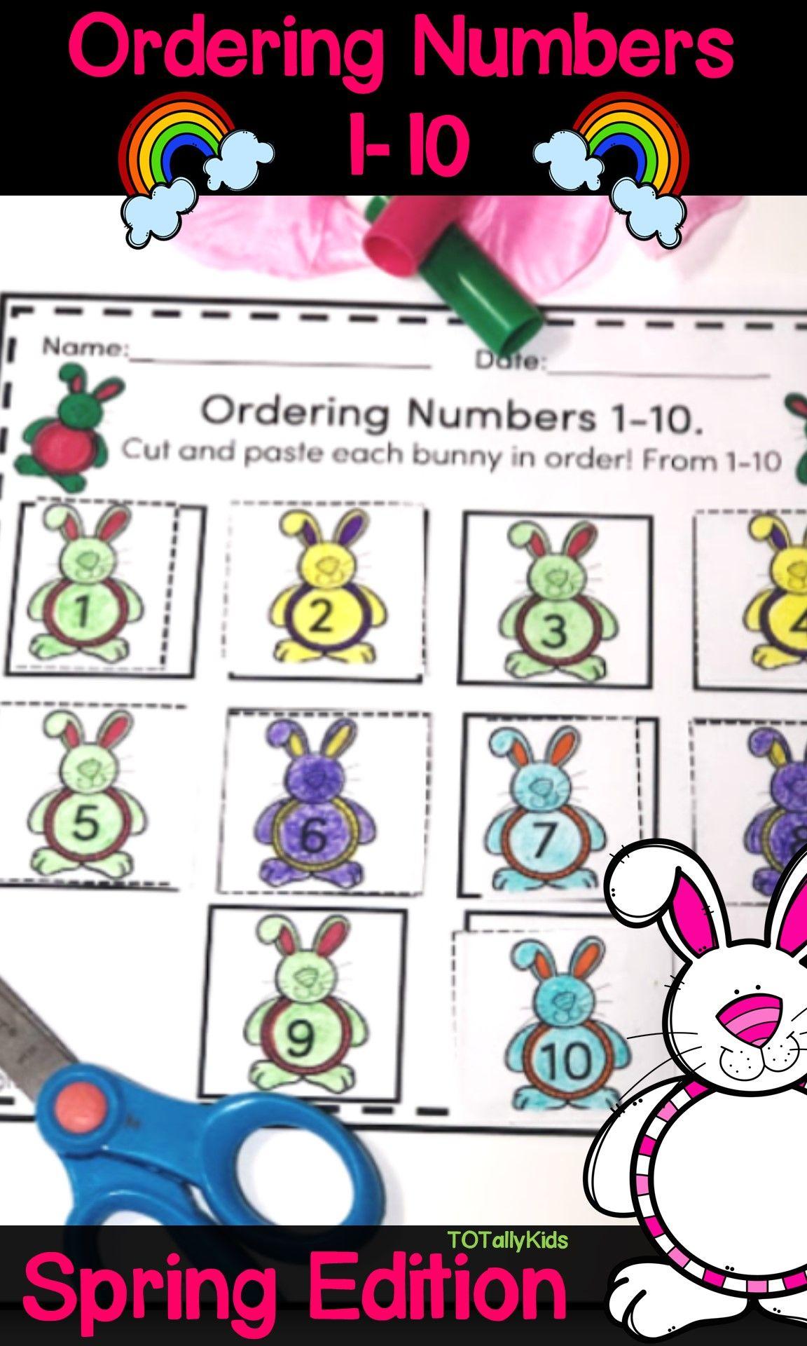 Ordering Numbers 1 10