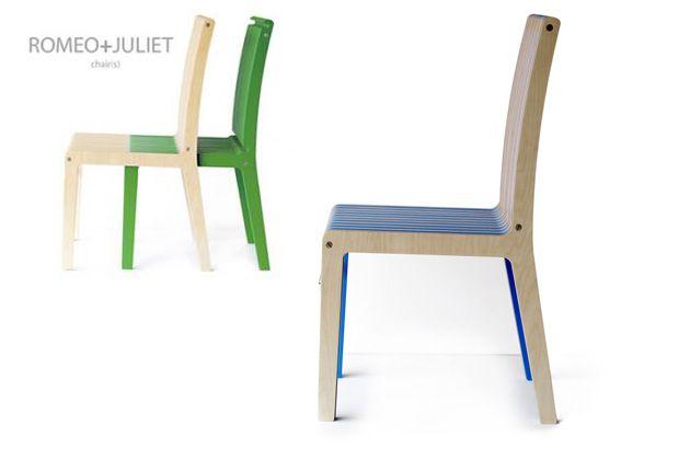 Dos sillas en una, en este diseño de nombre tan evocador.