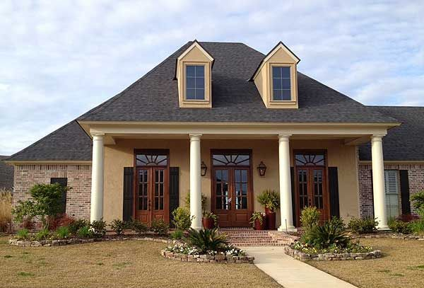Plan 56358sm Lovely Louisiana Home Plan Acadian House Plans French Country House Plans Madden Home Design