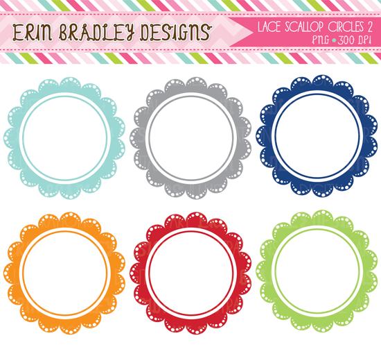 Boyish Scalloped Circles 01 Png 550 510 Clip Art Frame Clipart Circle Frames Clipart