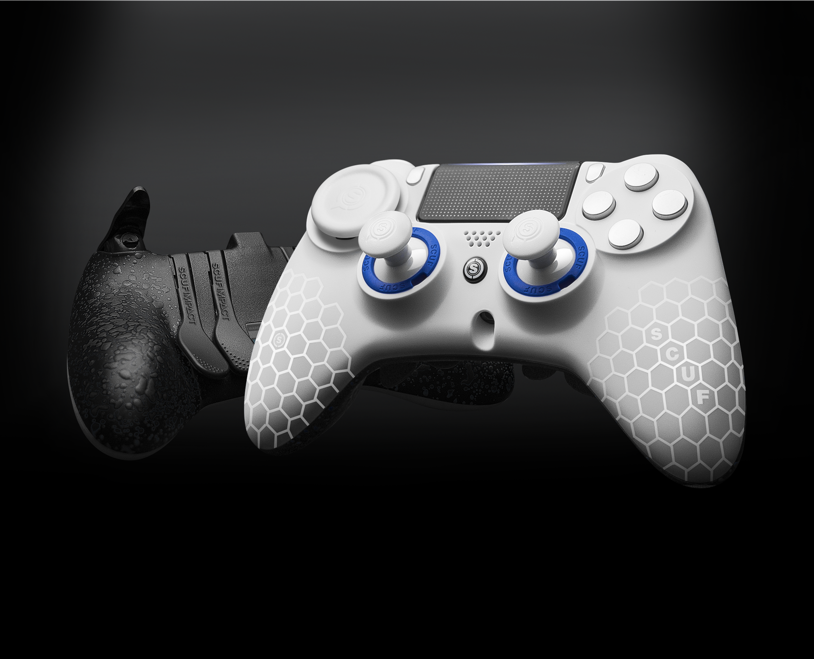 The Completely Re Engineered Shape And Ergonomics Of The Scuf Impact Are Molded To Fit Your Hands Perfectly For Paddle Ps4 Scuf Controller Ps4 Game Controller