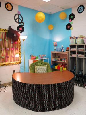 cute teacher desk area