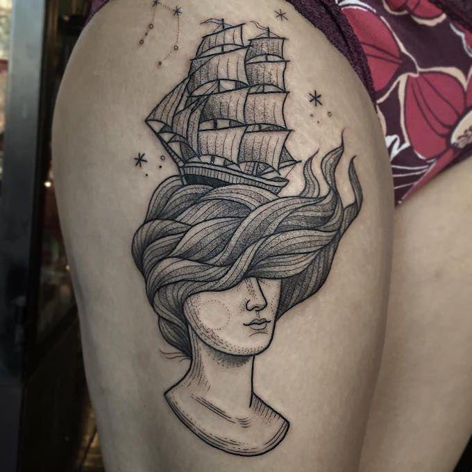 45 Mesmerizing Surreal Tattoos That Are Wonderful: Susanne König's Surreal And Sweet Stippled Tattoos