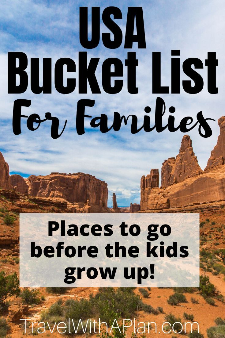 USA Bucket List: 15 Must See Places for Families | Travel With a Plan -   19 holiday Destinations usa ideas