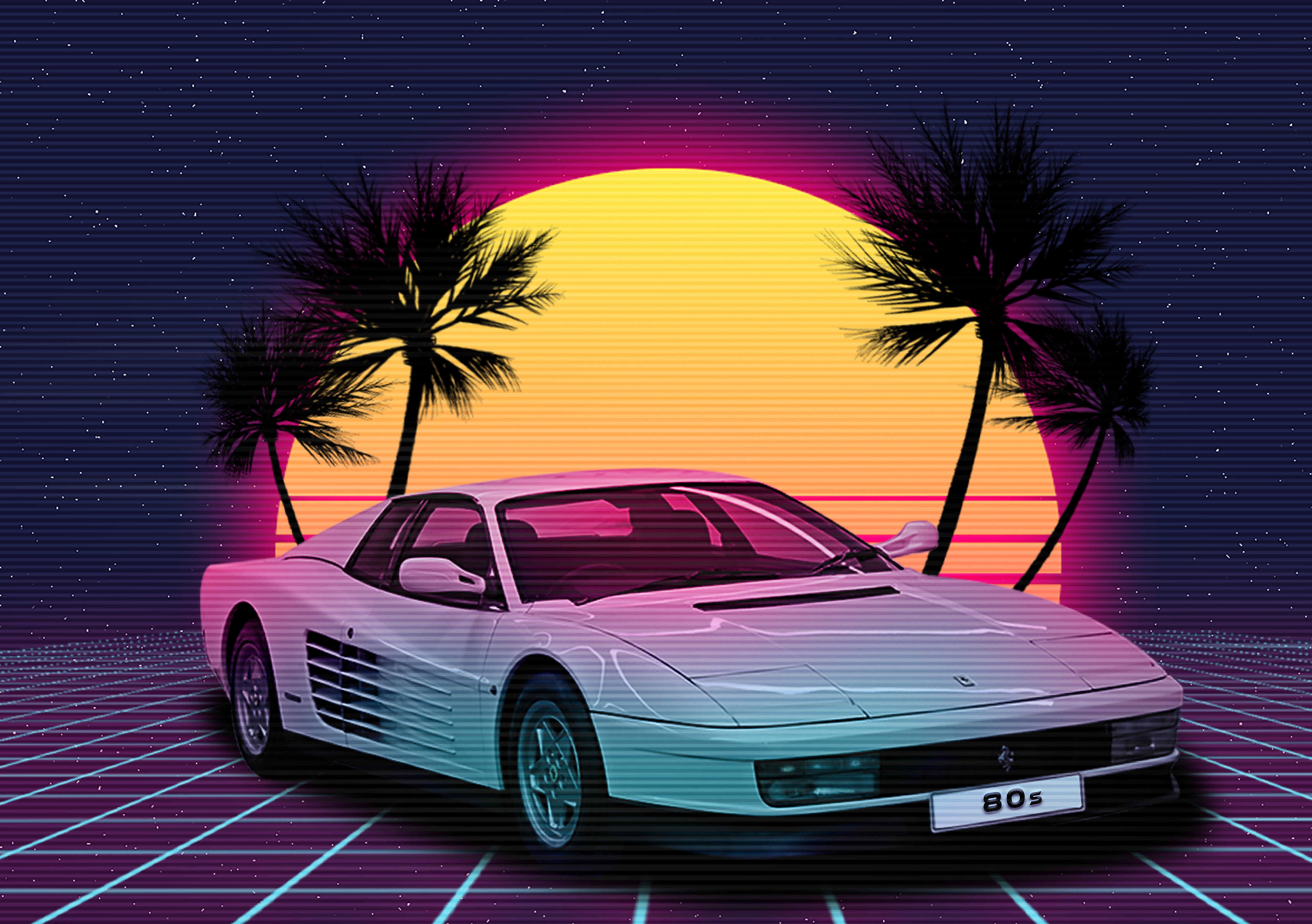 Synthwave Retro Car Retro Travel Poster Retro Waves Retro Futurism