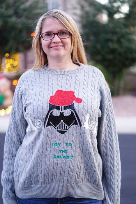 DIY Star Wars Ugly Christmas Sweater CrAfTy 2 ThE CoRe~DIY GaLoRe