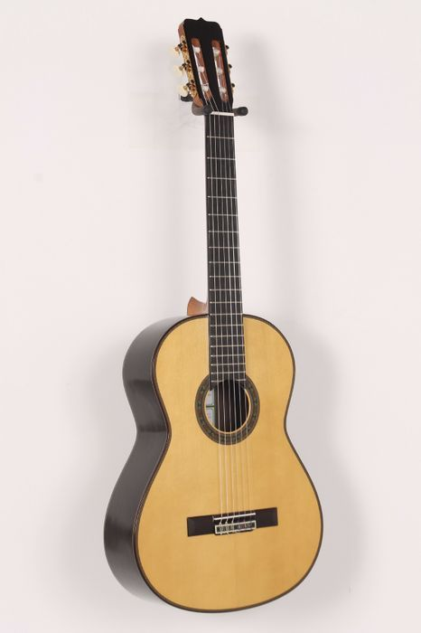 Click Image Above To Buy: Used Jose Ramirez 125 Anos Spruce Classical Guitar Natural 886830639623