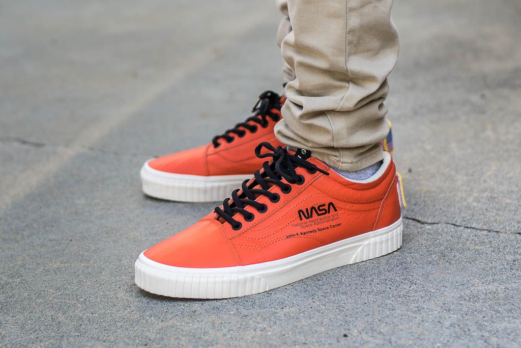 NASA x Vans Old Skool Firecracker Space Voyager On Feet on foot photo 8fb81e2ab