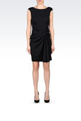 I love the fitted yet draped look of this Armani Collezioni Women Dress.