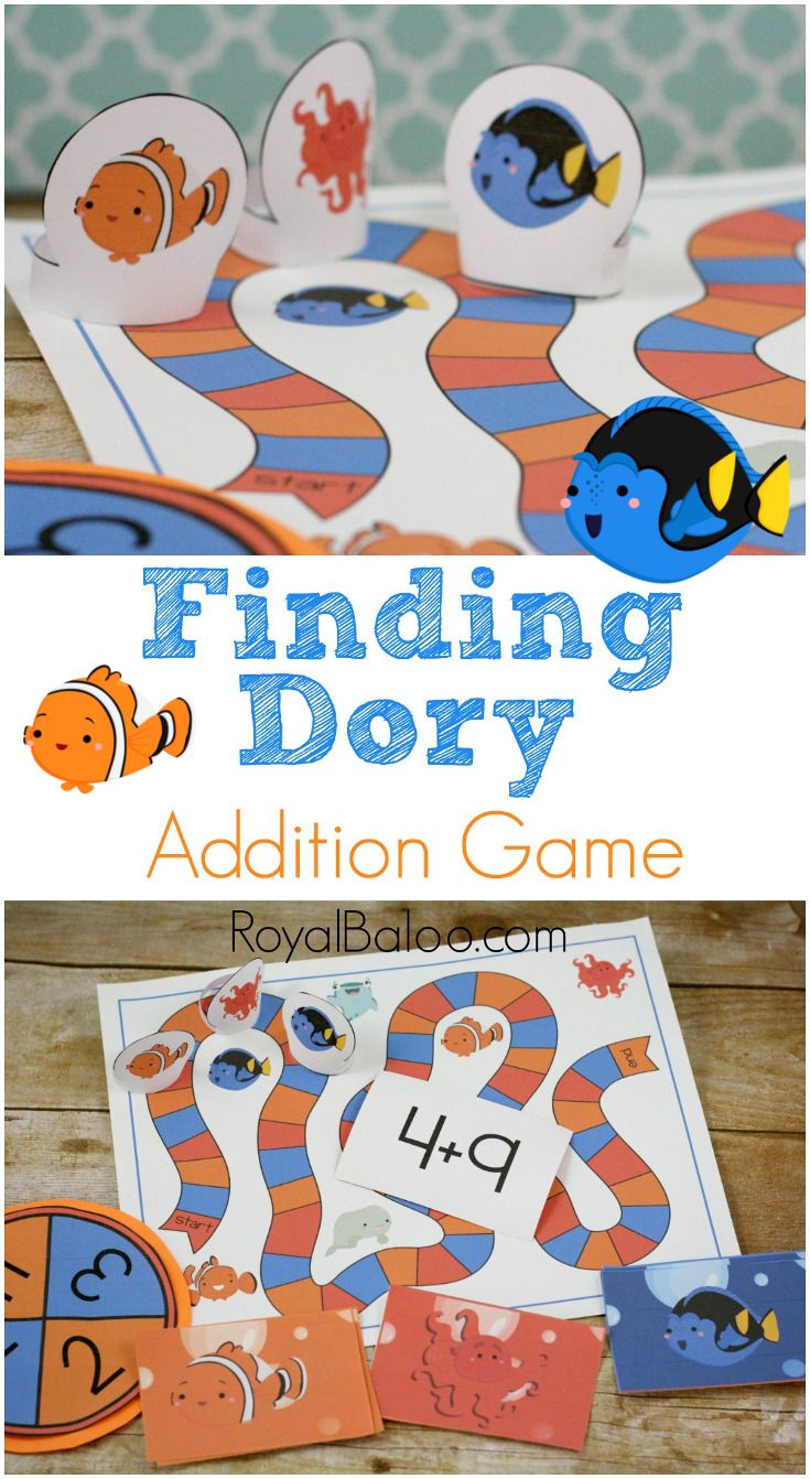 Finding Dory Addition Game | Free math games, Free math and Finding dory