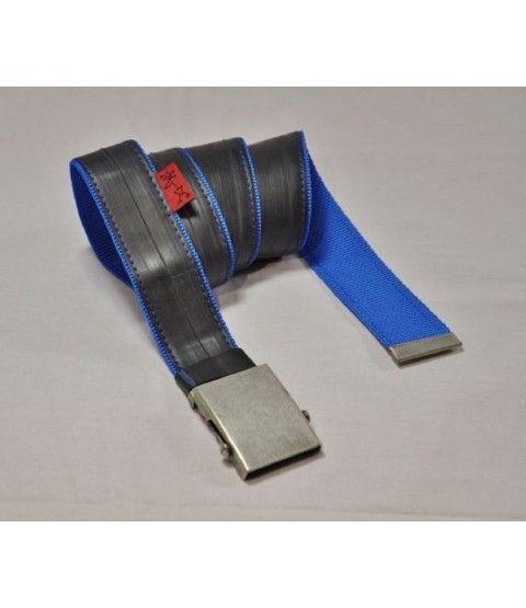 Stef Fauser Design Gürtel Beltinger-Blau 110 x 4cm Blue  - 2-flowerpower
