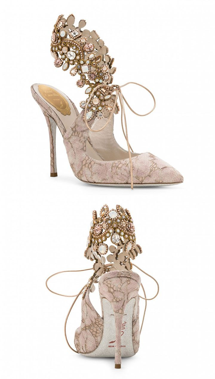 e92ead1d6671 Blush  amp  Nude Jeweled Shoes For Brides By René Caovilla ~