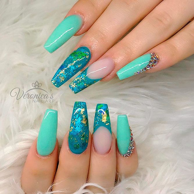 Bright Color Designs for Coffin Nails picture 2 - 21 Cool Coffin Shape Nails Designs To Copy In 2018 Nail Nail