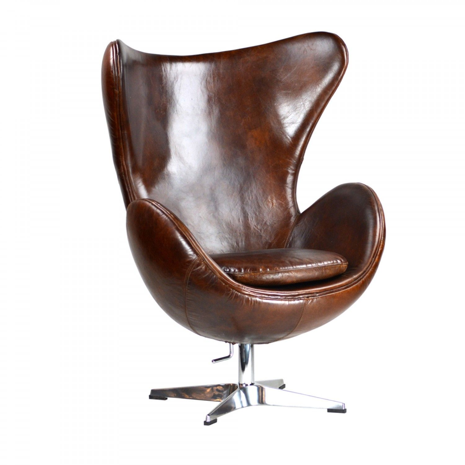 Astonishing Leather Bedford Egg Chair Leather Swivel Chair Leather Customarchery Wood Chair Design Ideas Customarcherynet