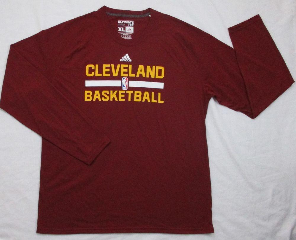 d228dbd93dd CLEVELAND CAVALIERS S NBA Practice Performance L S T Shirt XL ADIDAS  CLIMALITE  adidas  ClevelandCavaliers