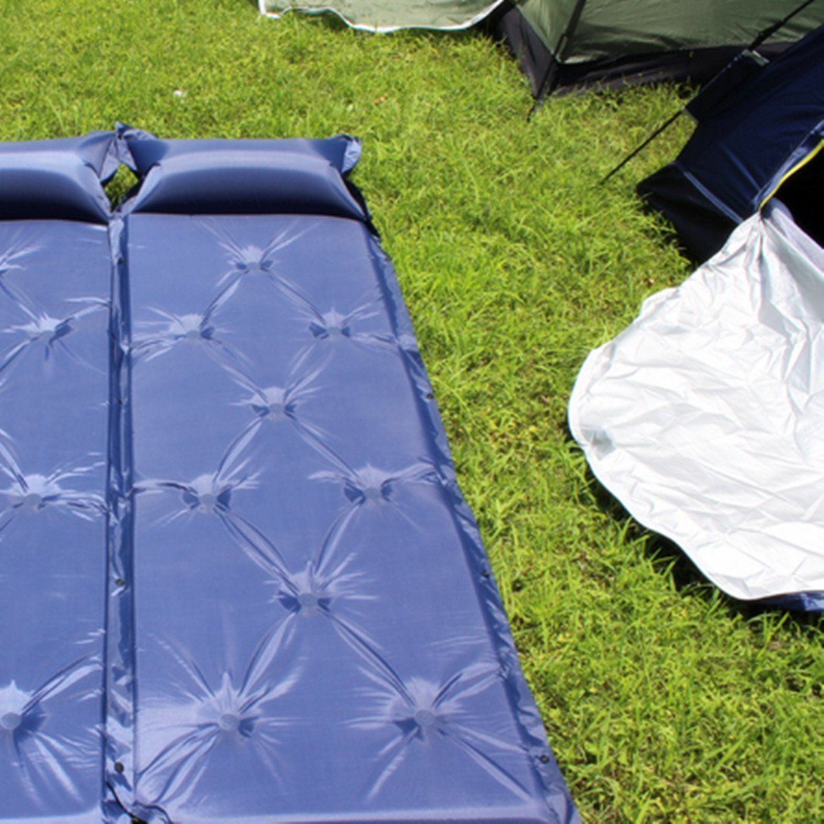 KINGSO Self-Inflating Outdoor Camping Tent Sleeping Mattress Pad Bed with  Built-In Pillow
