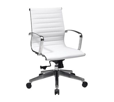 379 99 Officemax Office Star 74123lt Osp Furniture Mid Back Eco Leather Hospitality Seating Chair Whi White Office Chair Leather Chair Bonded Leather Chair