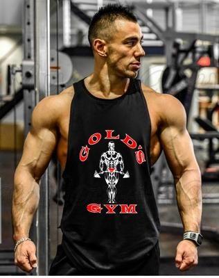 ee5ffd48a5f6d Brand Bodybuilding Stringer Tank Tops Men Fitness Golds Gyms