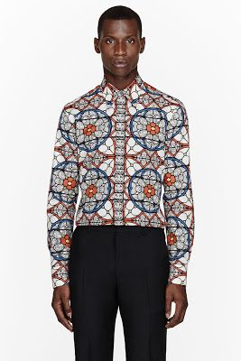 Truly Sharp -  Alexander Mcqueen Orange Stained Glass Print