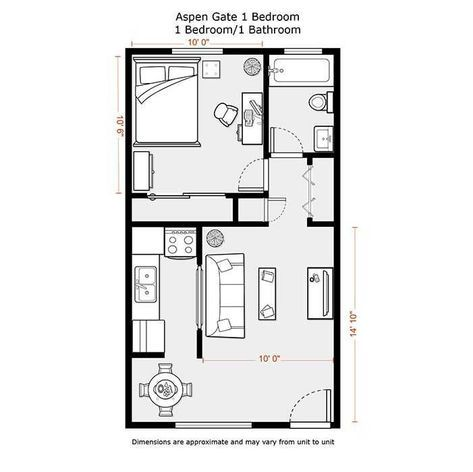 Good Separation Of Sleeping Space With Storage Kitchen Could Be A Bit Wider To Use The Wall Space Mor Cabin Floor Plans Bedroom Floor Plans Garage Floor Plans