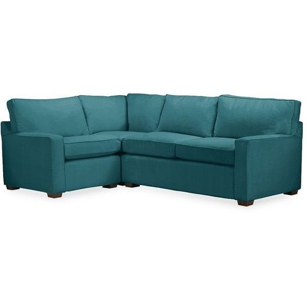Pottery Barn PB Square Upholstered Right Arm 3 Piece Sectional ($4,899) ❤  Liked · Pottery Barn CouchSmall SectionalFabric ...