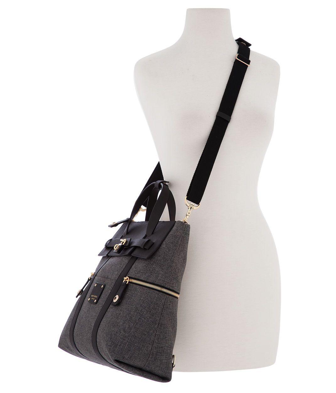 Jetsetter Black Canvas Convertible Backpack | Henri Bendel