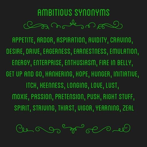 Synonym of ambitious