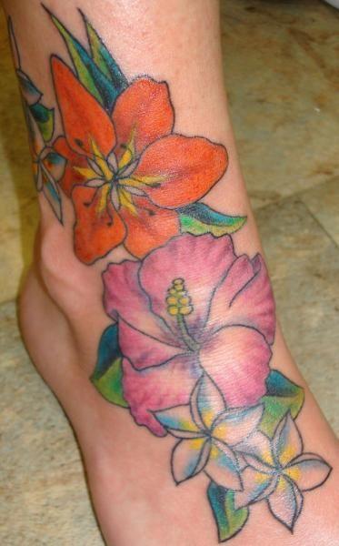 hawaiian flower foot tattoo tattoos and tattoo designs tats pinterest flower foot. Black Bedroom Furniture Sets. Home Design Ideas