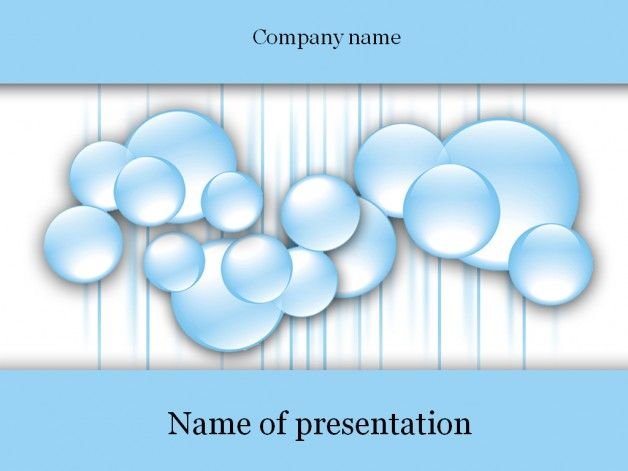 Water bubbles powerpoint template Templates Pinterest Template - summer powerpoint template