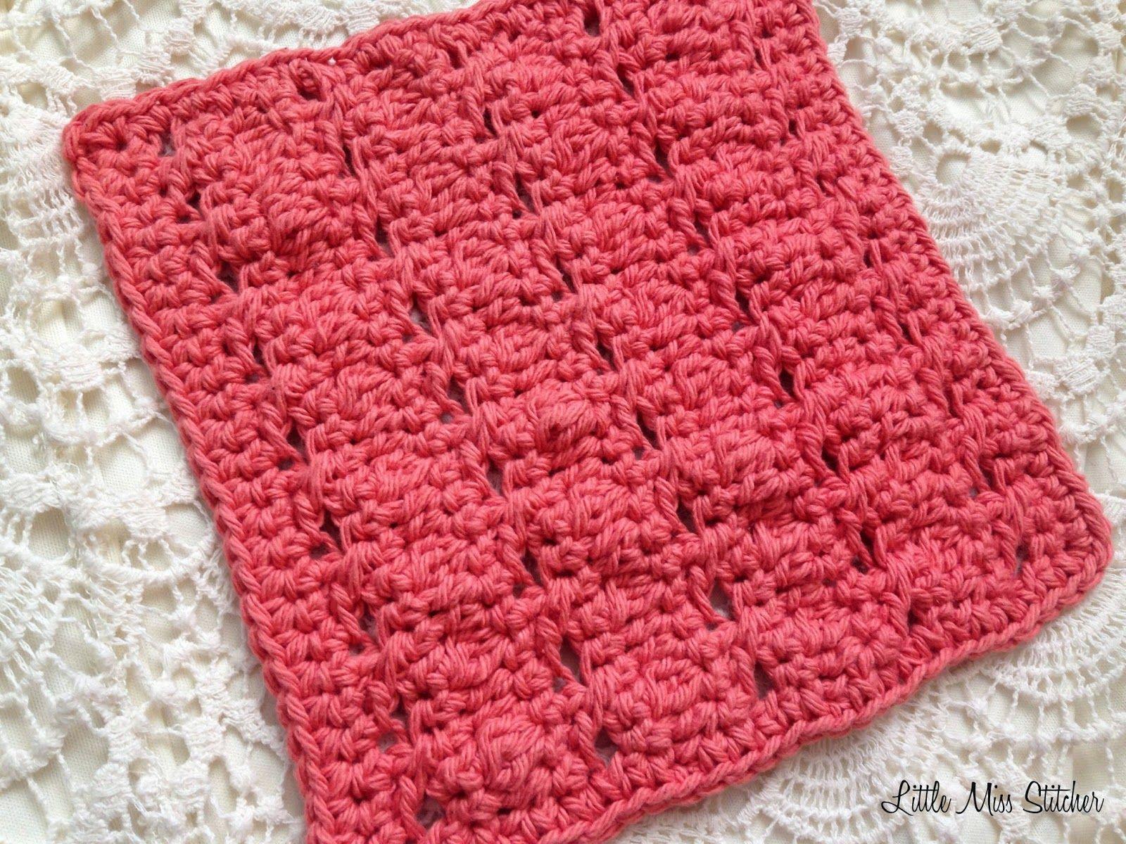 Little Miss Stitcher: 5 Free Crochet Dishcloth Patterns   Crochet ...