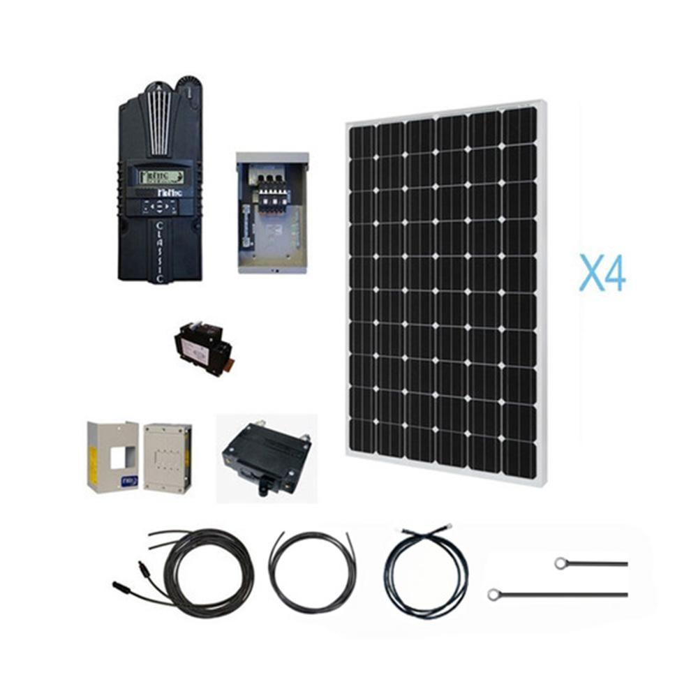 Renogy 1000 Watt 12 Volt Monocrystalline Solar Cabin Kit For Off Grid Solar System Kit Cabin1000d Solar System Kit Solar Panel Kits Off Grid Solar