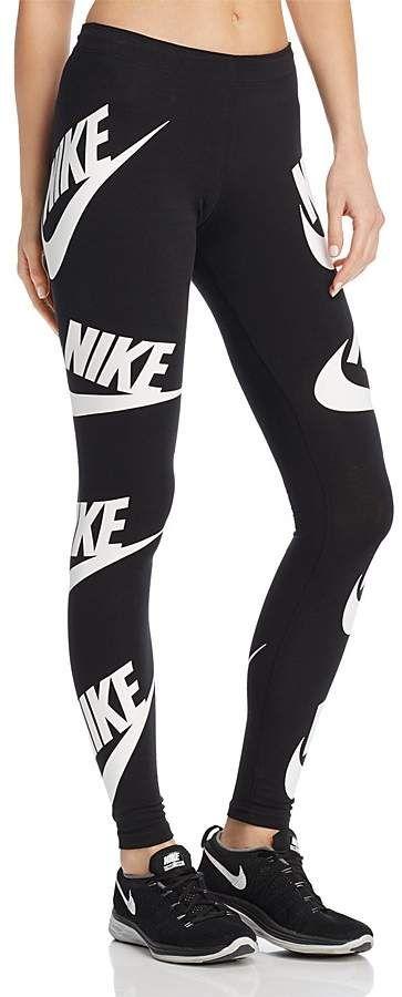 8f74d45bbf14b Nike Logo Print Leggings | Outfits | Nike leggings, Nike logo y ...