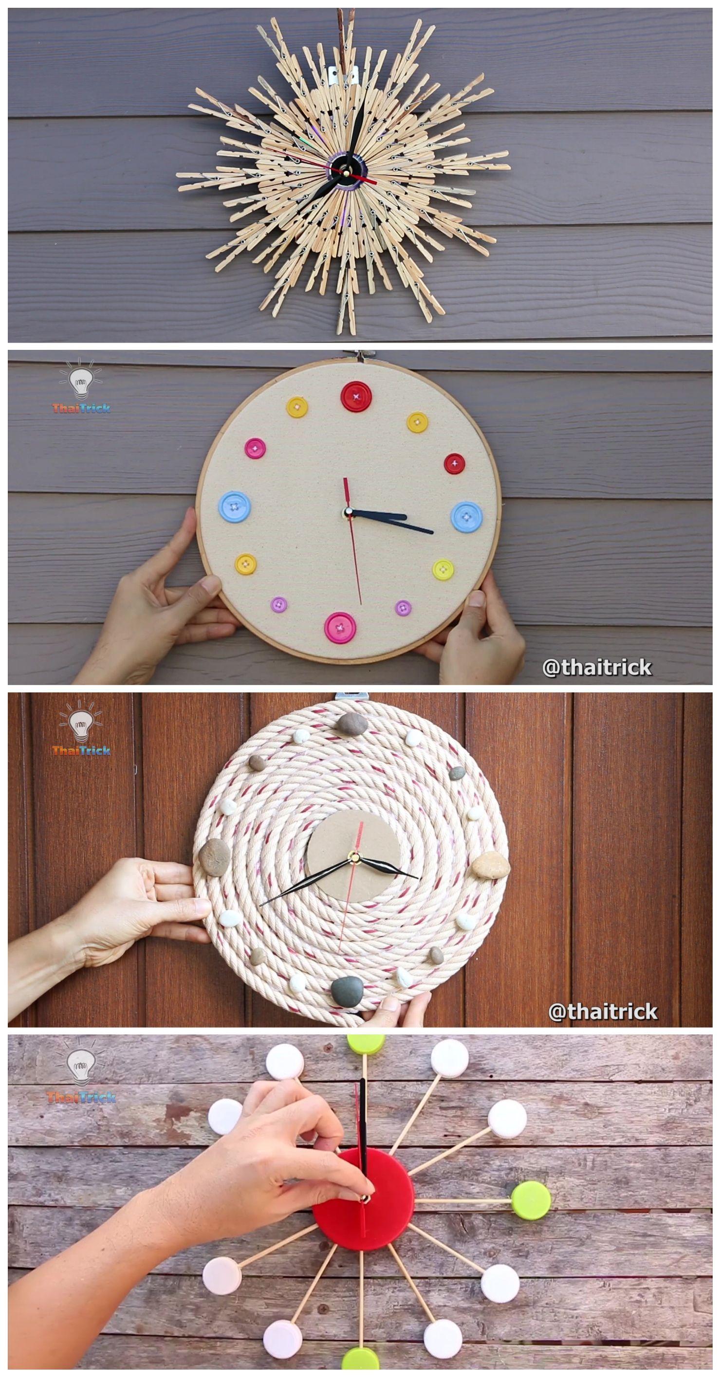 4 Creative Wall Clock Ideas Room Decor 2019 Flower Diy Crafts Handmade Wall Clocks Diy Popsicle Stick Crafts