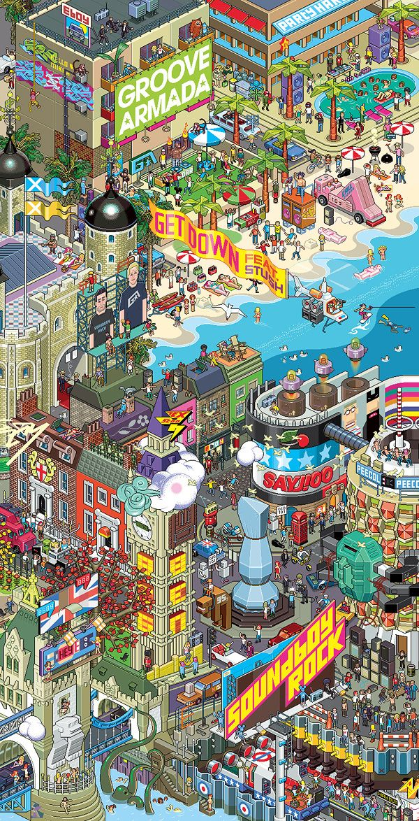 pixel art lego building an illustrated city pinterest pixel art jeux vid os et paysage. Black Bedroom Furniture Sets. Home Design Ideas