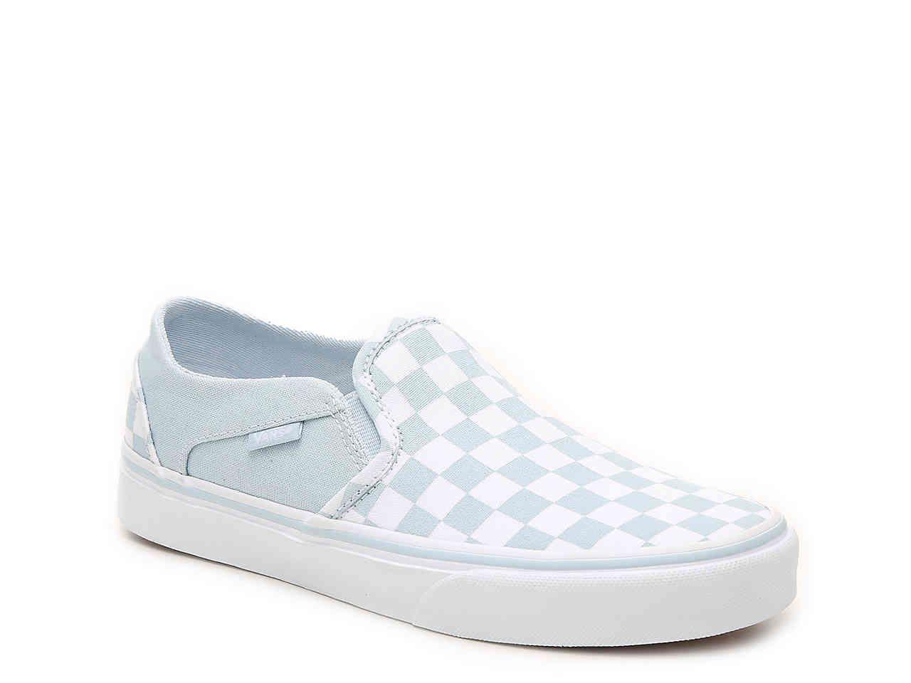 Vans Asher Checkered Slip-On Sneaker