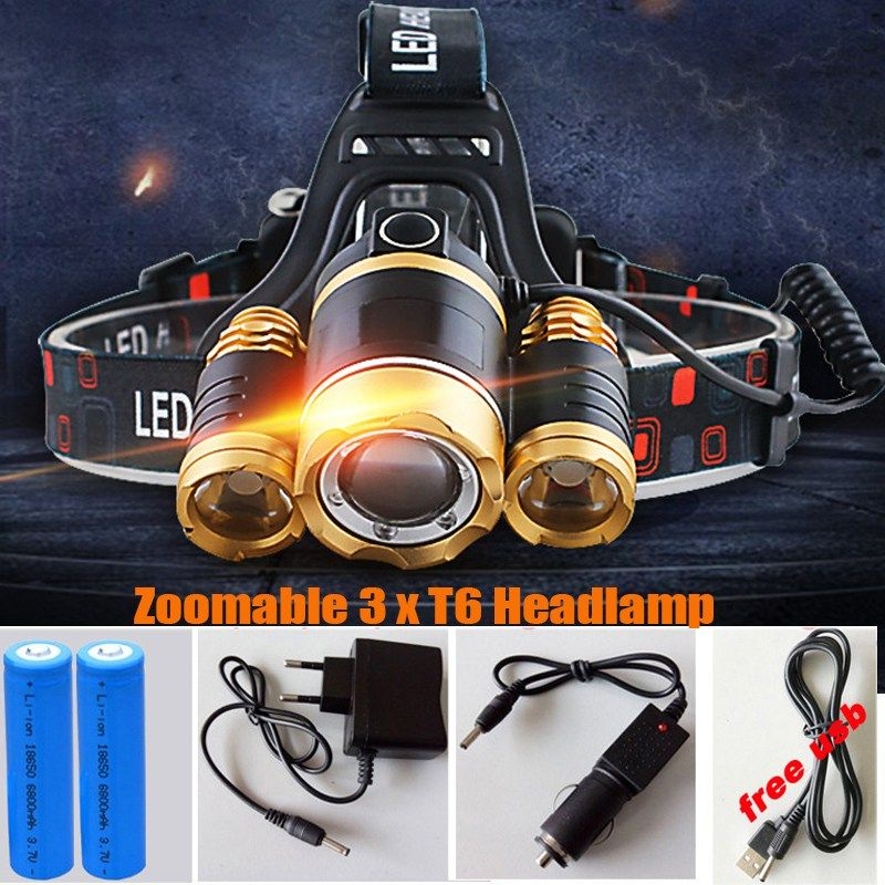 Cap Hat Fishing Light Clip LED Hunting Tactical Police Torch Headlight Military