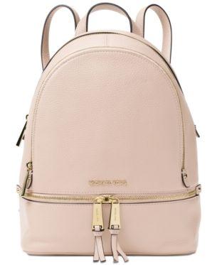 Michael Michael Kors Rhea Zip Small Pebble Leather Backpack - Black ... f126d3b717