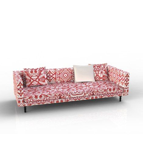 Fun and funky ultra-modern couch from Scott + Cooner design. #red ...