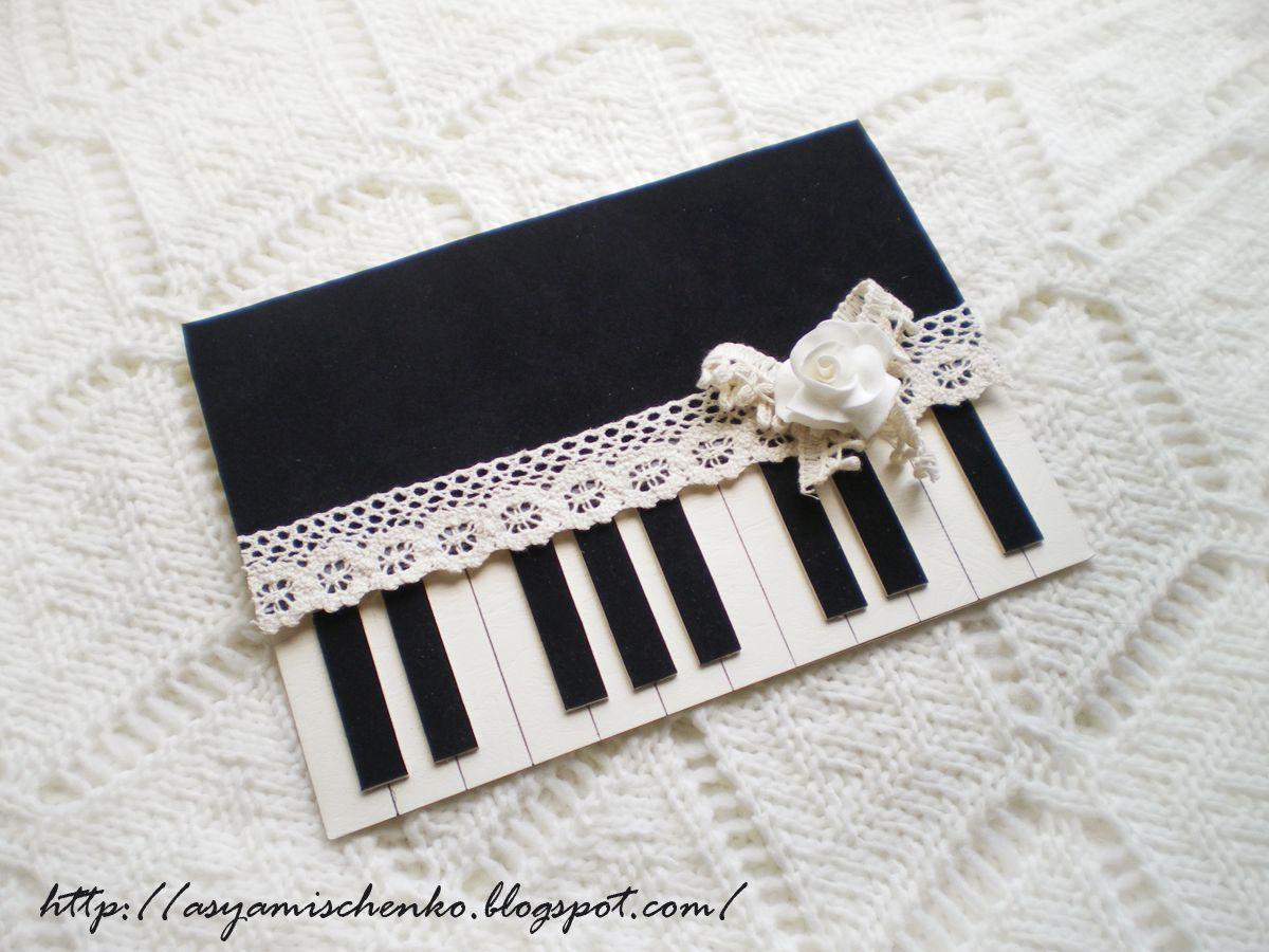 piano card cards pinterest karten basteln. Black Bedroom Furniture Sets. Home Design Ideas