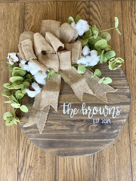 Photo of Personalized peasant wreath with greenery