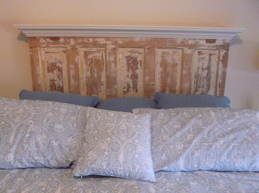 Diy Headboard Distressed Headboards Made From Doors Old Door Shabby Eclectic Re Purpose Upcycle Chic 5 Panel Antique