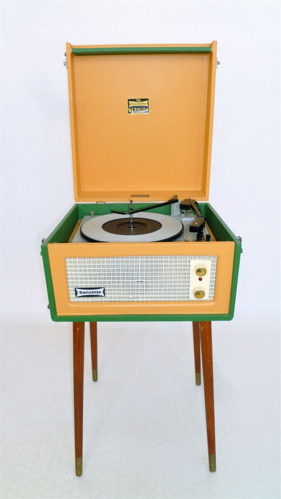 1960's record player | ... of VINTAGE 1960'S FULLY RESTORED DANSETTE 'BERMUDA' RECORD PLAYER