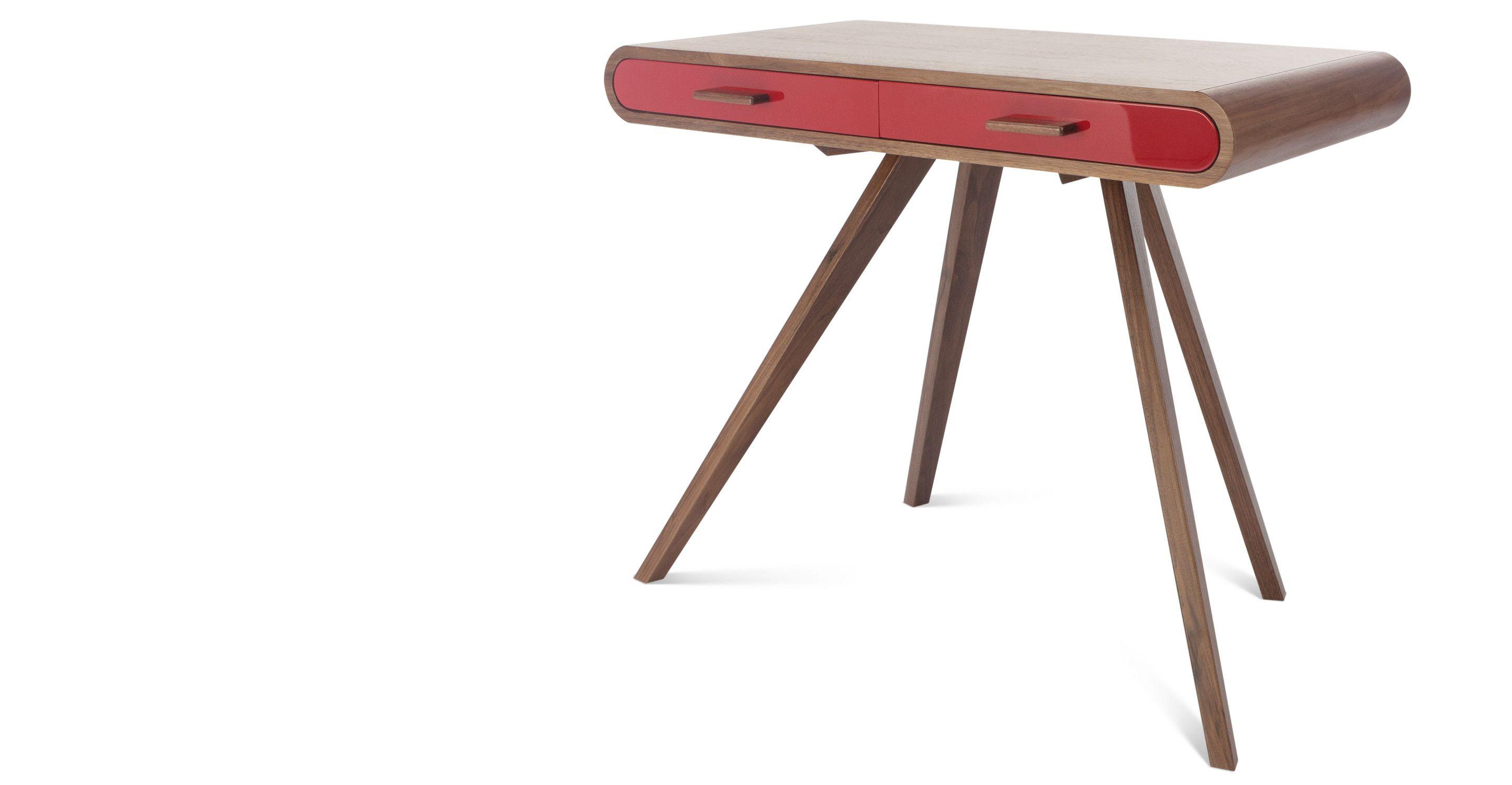 Der Fonteyn Schreibtisch von Steuart Padwick ist ein eleganter Arbeitsplatz der sich auch im Schlaf