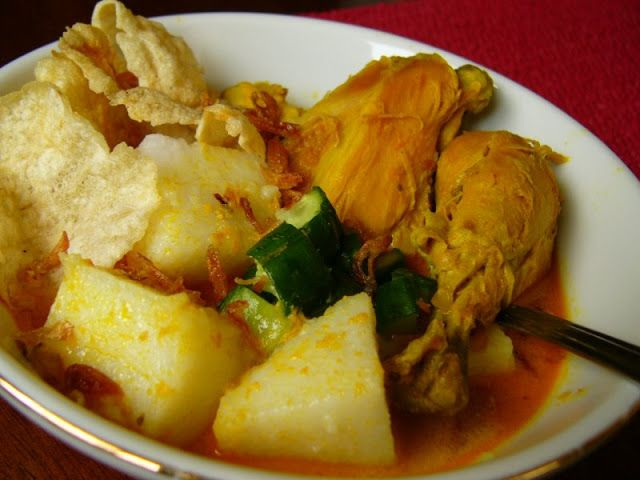 Resep Lontong Kari Ayam Bandung Ttm Resep Masakan Masakan Kari Ayam