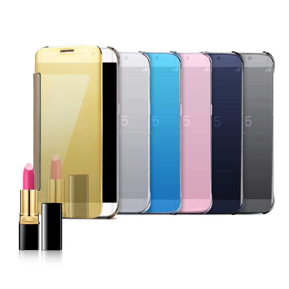 For iPhone 5 5S SE 6 6S Plus Plating Makeup Mirror Accessories Cover Case  For Samsung d0ceaa37fc199