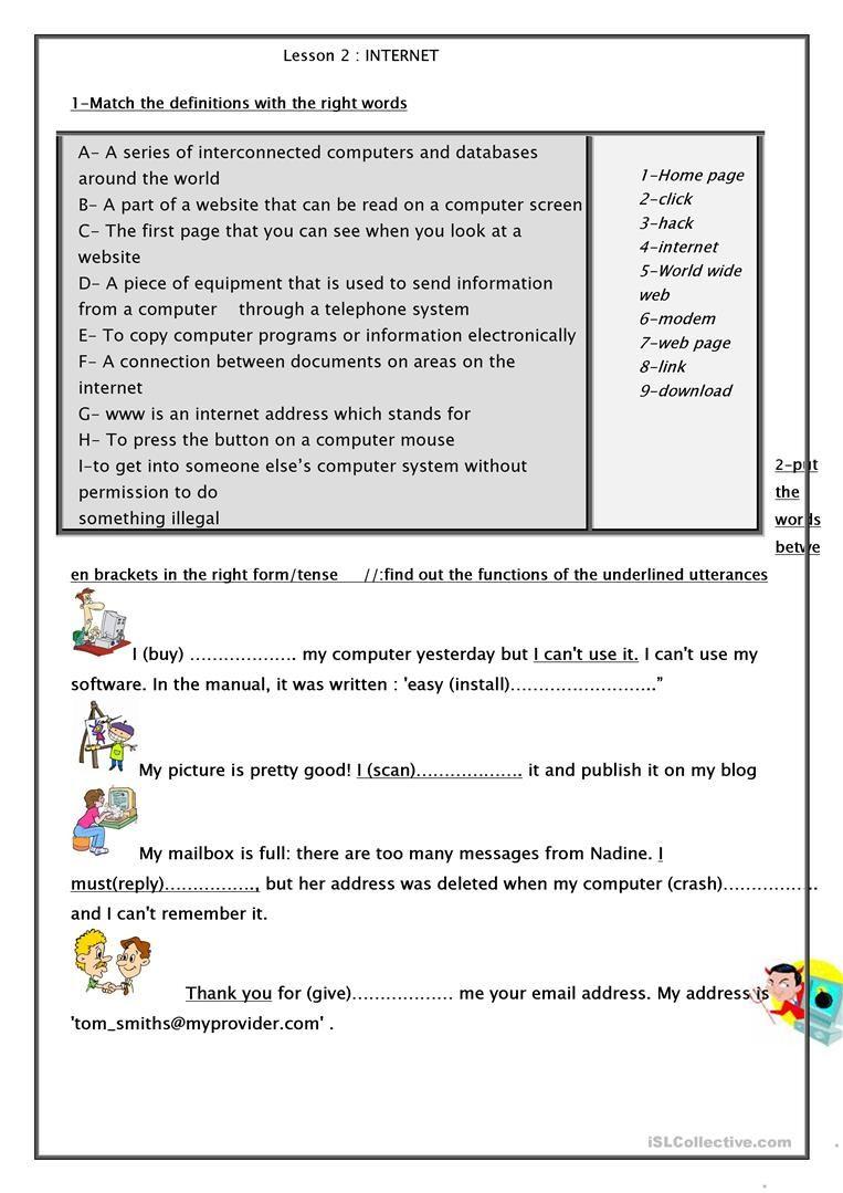 worksheet Teachers Worksheet internet handout worksheet free esl printable worksheets made by teachers