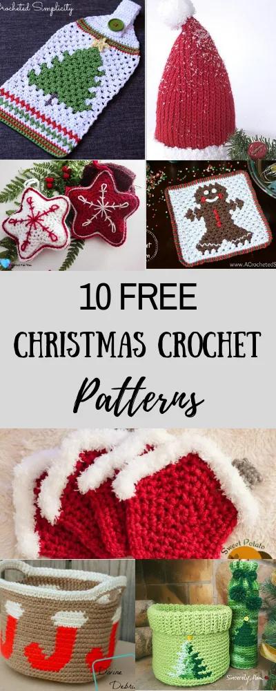 10 modèles de Noël au crochet gratuits –   – Christmas